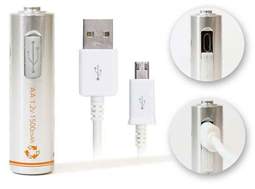 AA and AAA Batteries With Micro USB